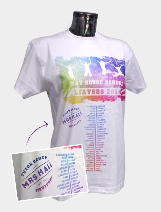 Full Colour School Leavers TShirt design